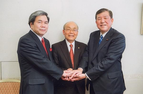 20150125石破大臣 蒲島熊本県知事 豊重